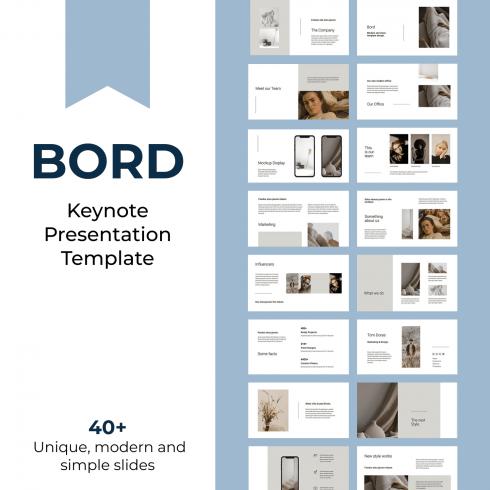 BORD - Neutral Keynote Template by MasterBundles.