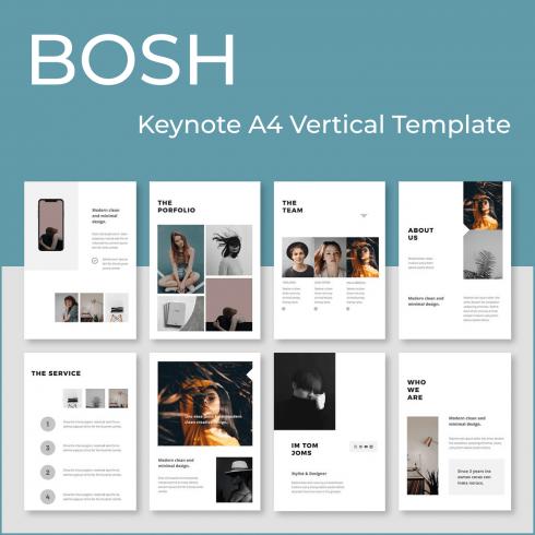 BOSH - Keynote A4 Vertical Template by MasterBundles.