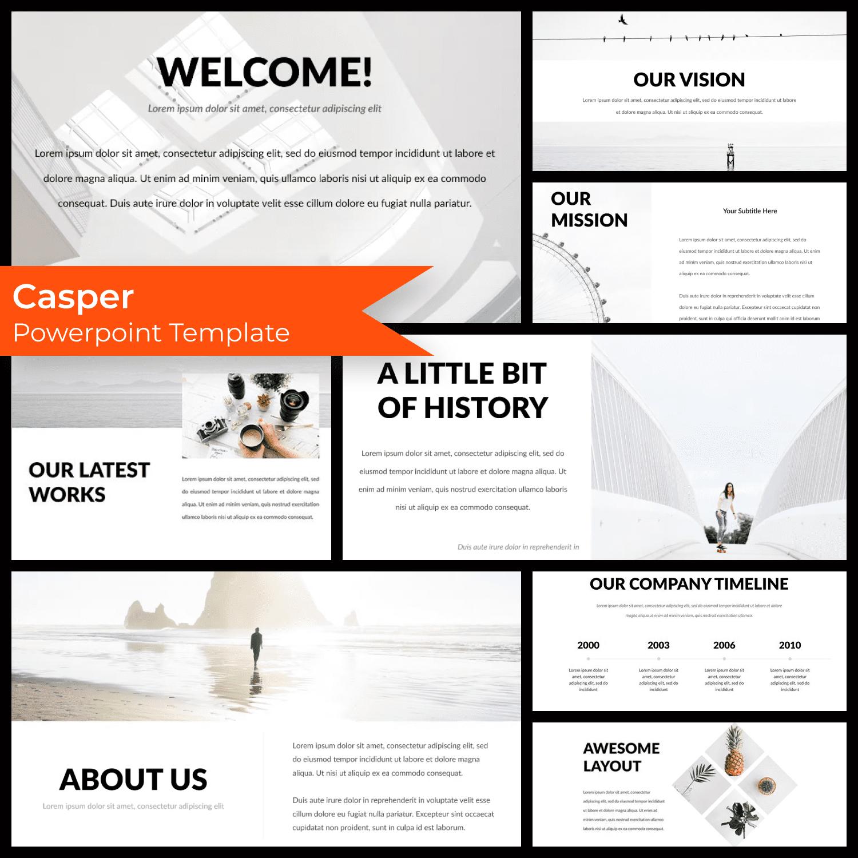 Casper - Powerpoint Template by MasterBundles.