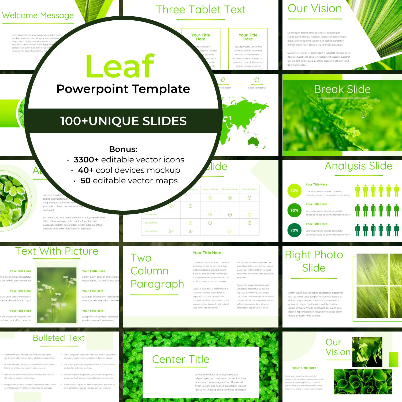 Leaf - Powerpoint Template by MasterBundles.