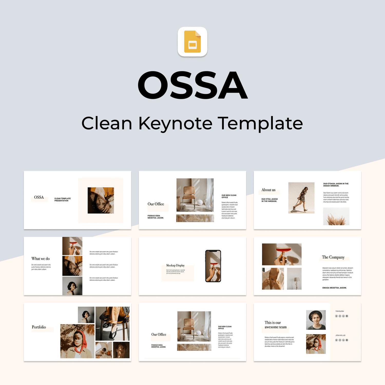 OSSA - Clean Google Slides Template
