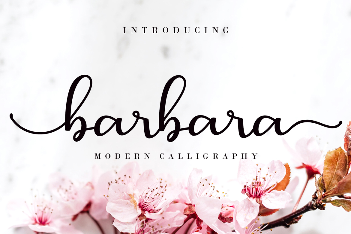 It has a thin modern calligraphy look making it perfect for branding and digital designs.