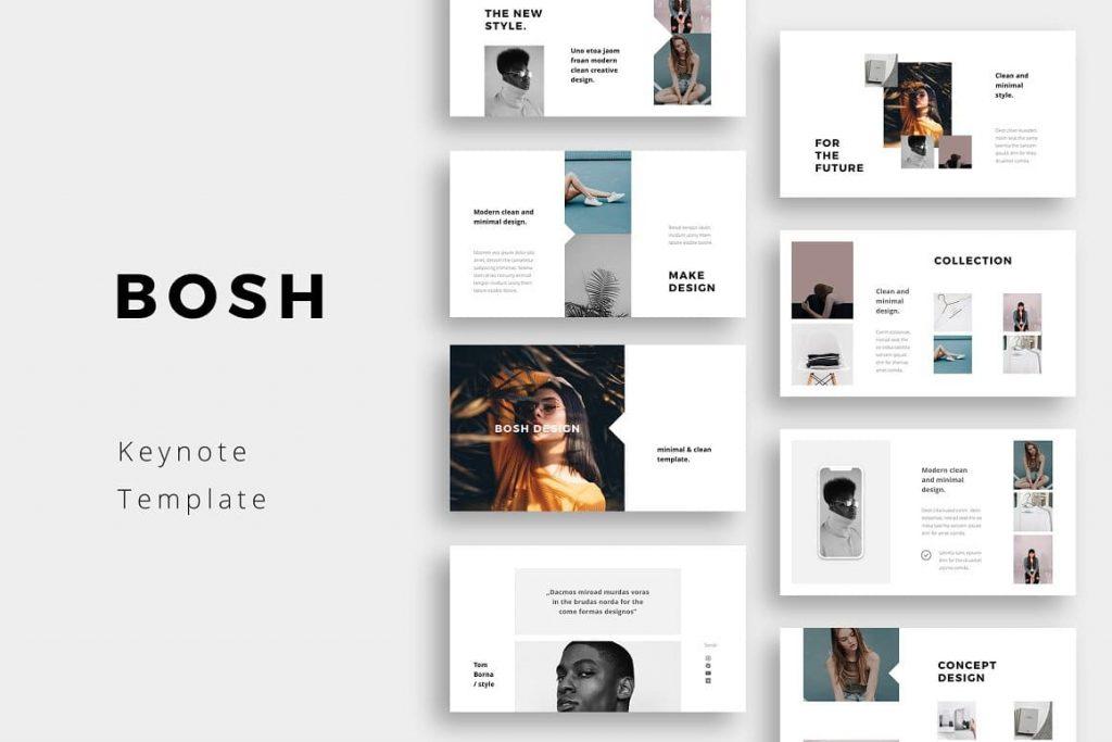 BOSH - Clean & Minimal Keynote Template.