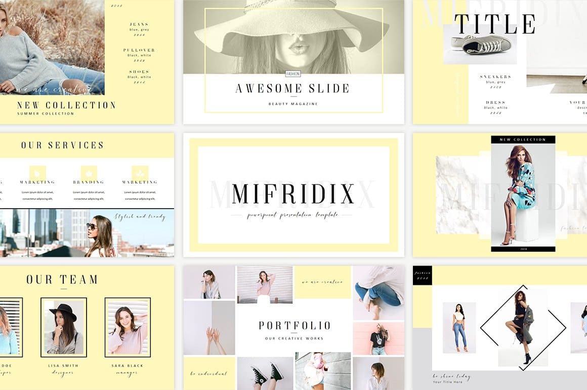 10 different beautiful color variations of Mifridix - Powerpoint Template.