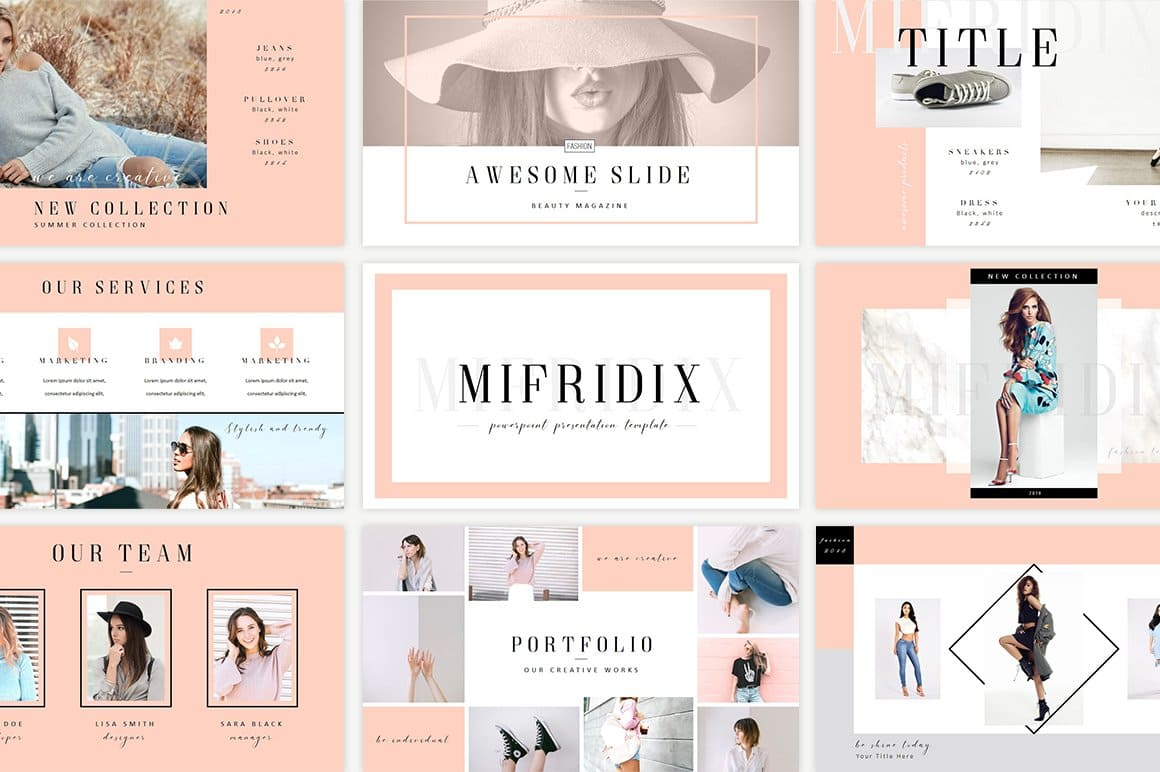 Mifridix - Powerpoint Template in Pink.