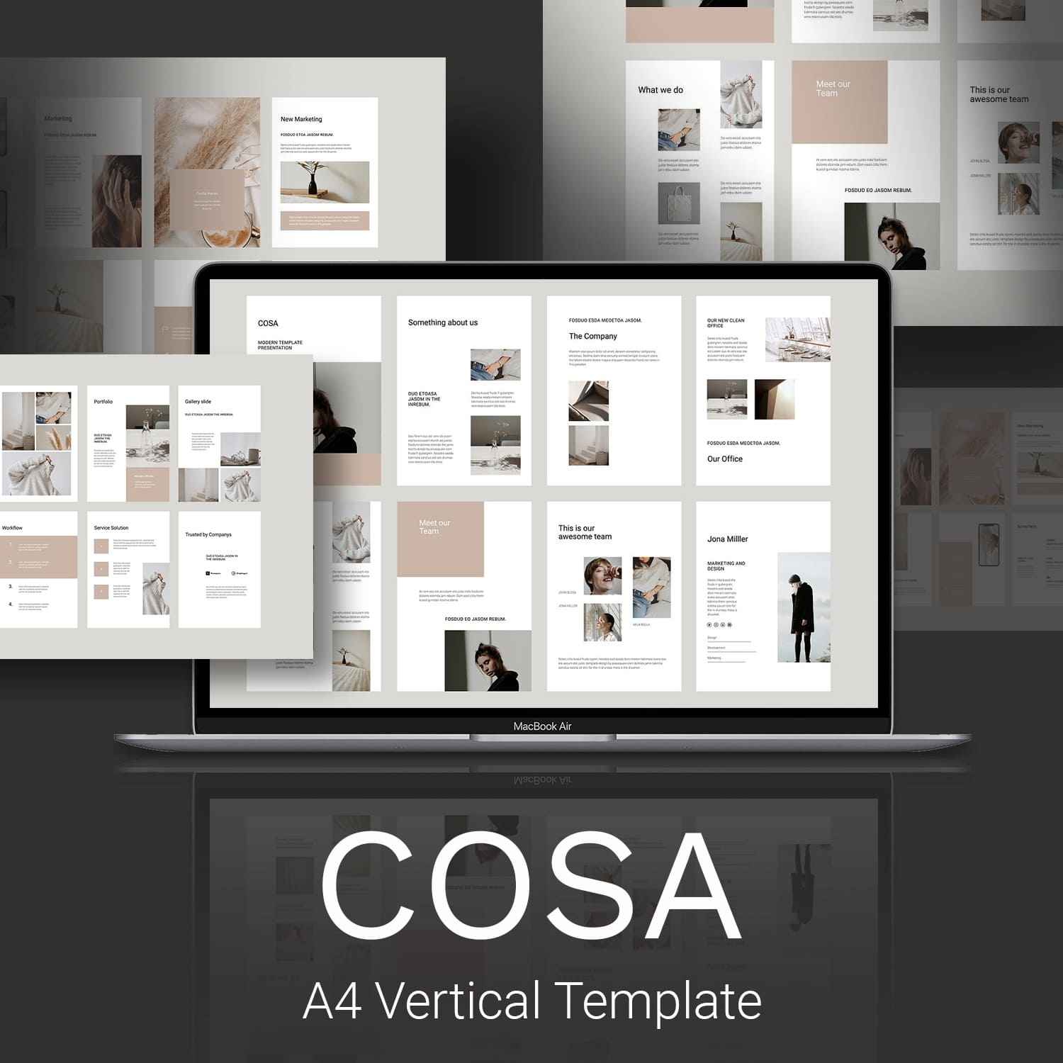COSA - Vertical Powerpoint Template by MasterBundles.