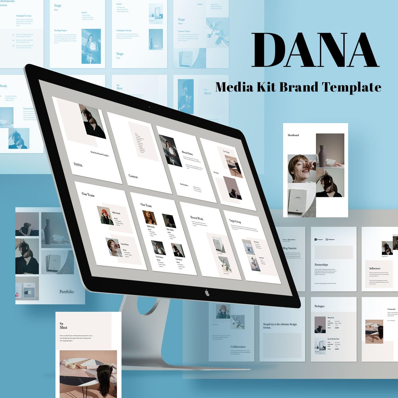 DANA - Vertical Powerpoint Template by MasterBundles.