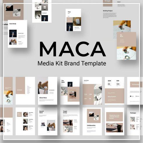 MACA Vertical Google Slides Template by MasterBundles.