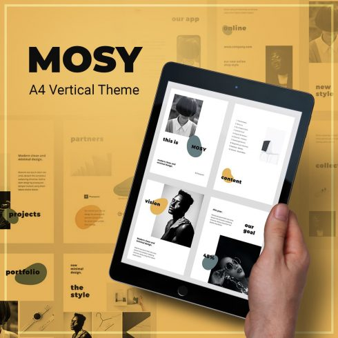 MOSY - Google Slides A4 Template by MasterBundles.