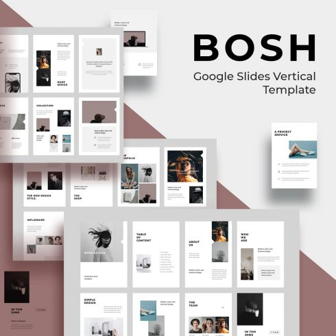 BOSH Google Slides Vertical Template by MasterBundles.