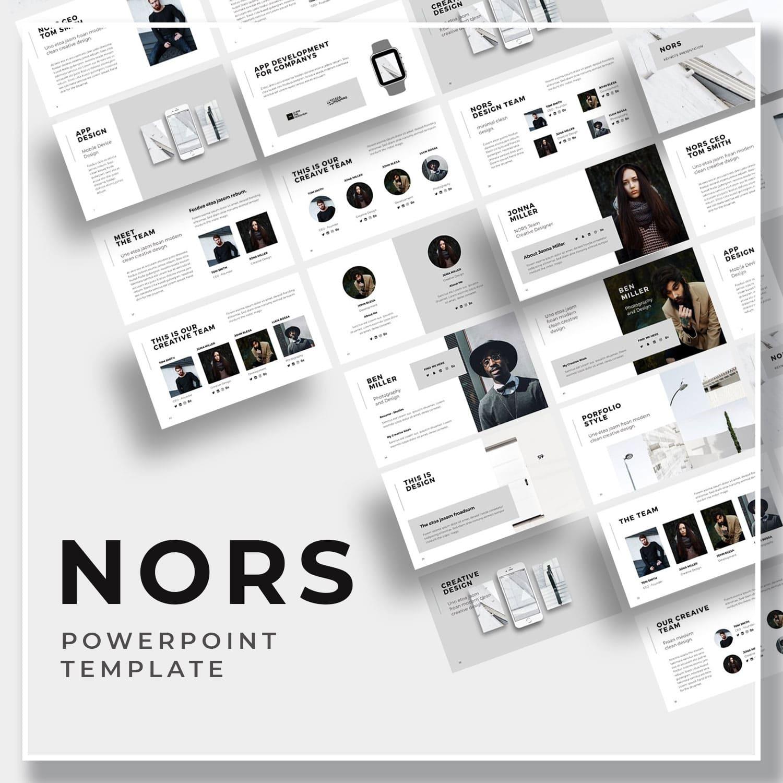 NORS Powerpoint Template + Big Bonus by MasterBundles.