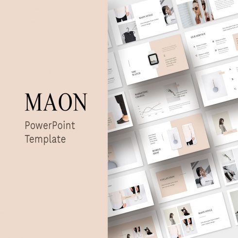 MAON - Powerpoint Template by MasterBundles.