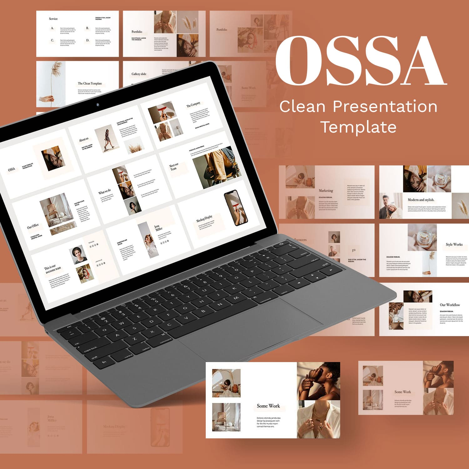 OSSA - Clean Powerpoint Template by MasterBundles.