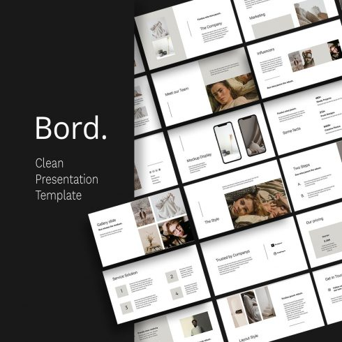 BORD - Neutral Powerpoint Template by MasterBundles.
