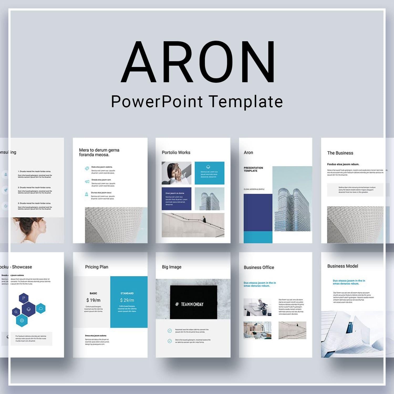ARON Vertical Google Slides Template by MasterBundles.