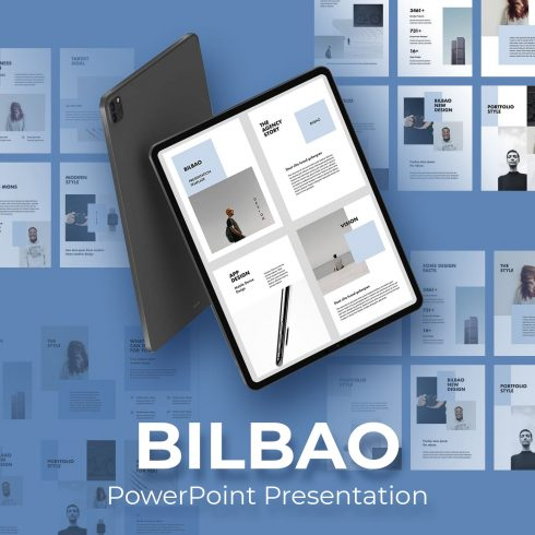 BILBAO Vertical Powerpoint Template by MasterBundles.