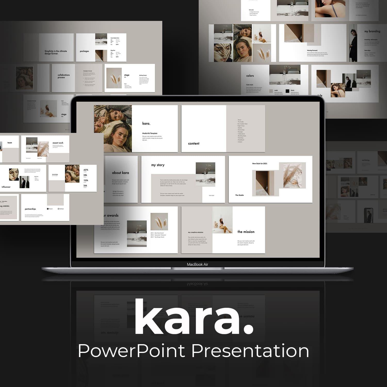 KARA - Media Kit Powerpoint Template by MasterBundles.