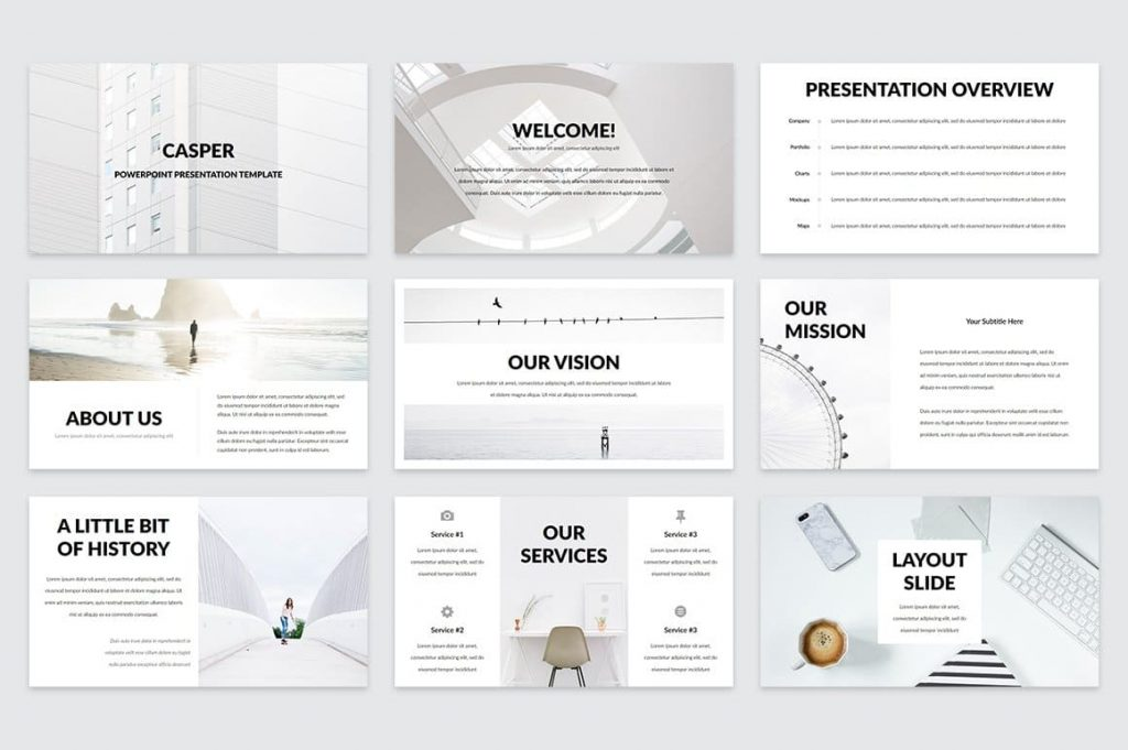 Welcome Slides Casper - Powerpoint Template.