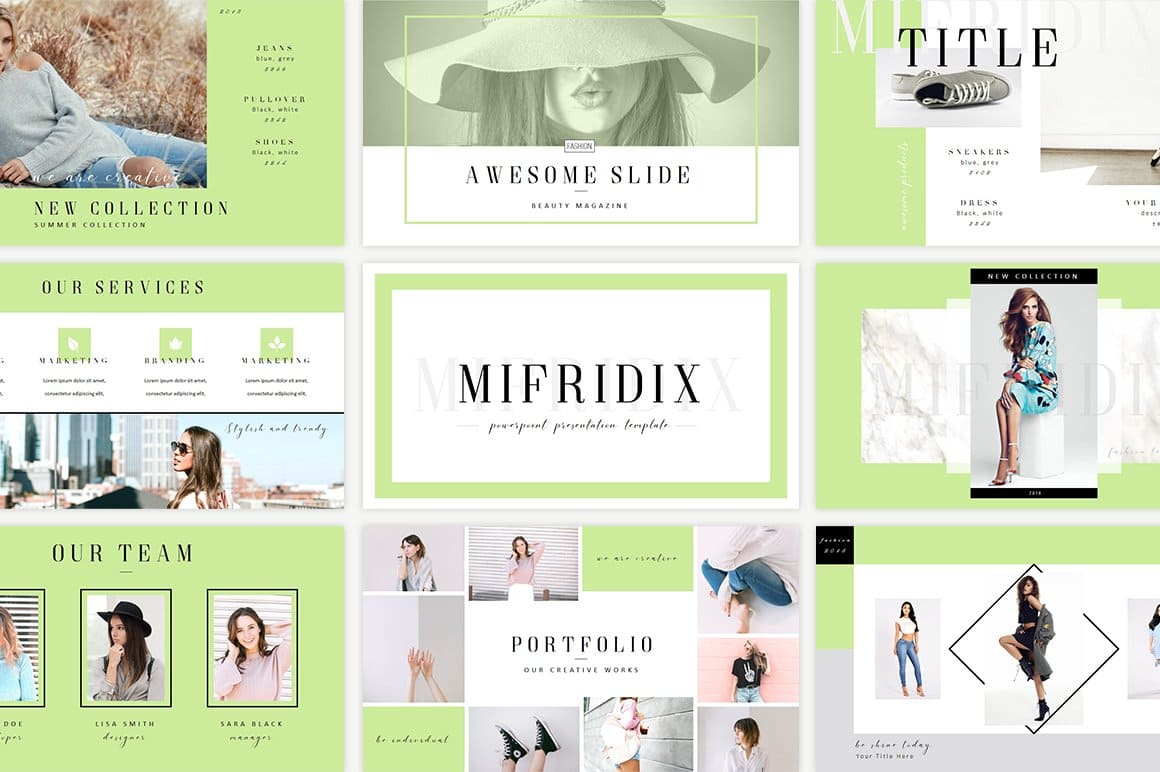 Mifridix - Powerpoint Template in Green.