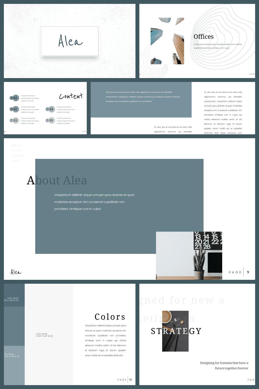 Minimalist Presentation: Powerpoint, Keynote, Google Slides - MasterBundles - Pinterest Collage Image.