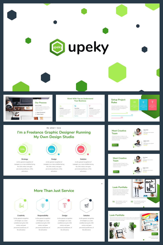 Green Presentation: Powerpoint, Keynote, Google Slides - MasterBundles - Pinterest Collage Image.