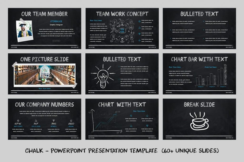 All materials are editable Chalk - Powerpoint Template.