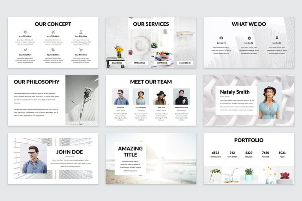 All materials are available for editing Casper - Powerpoint Template.