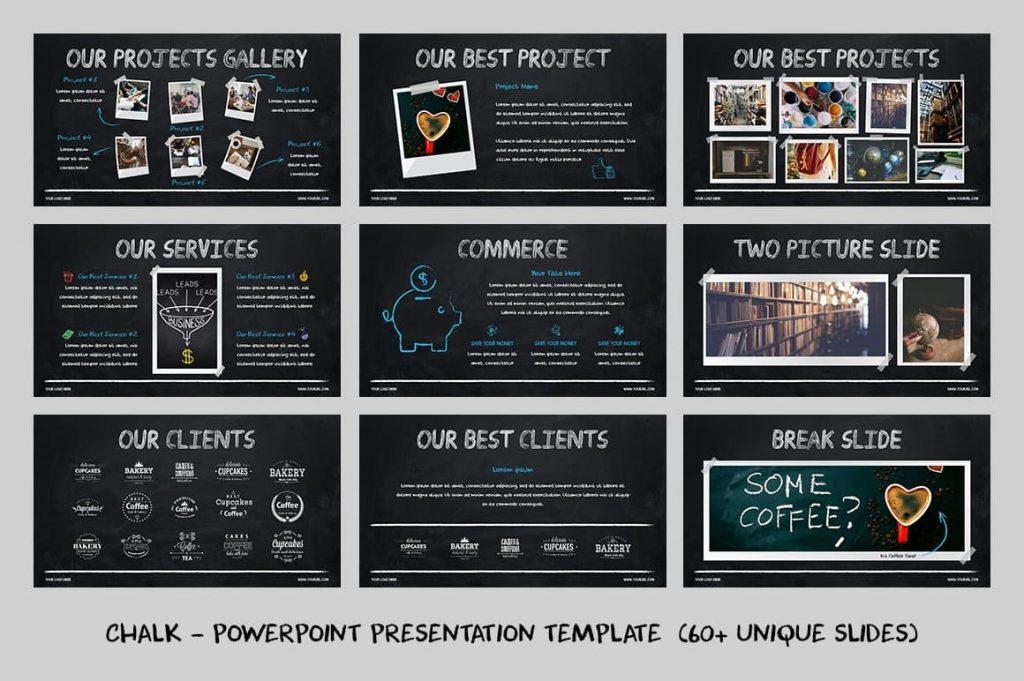 Creative Slides Chalk - Powerpoint Template.