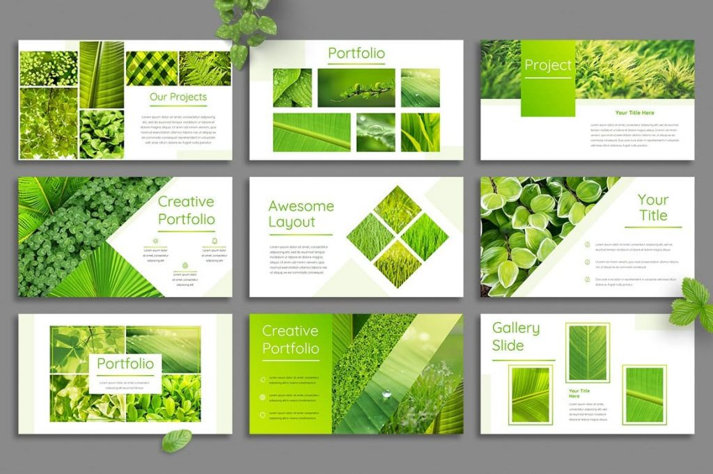 Leaf Portfolio Slides - Powerpoint Template.