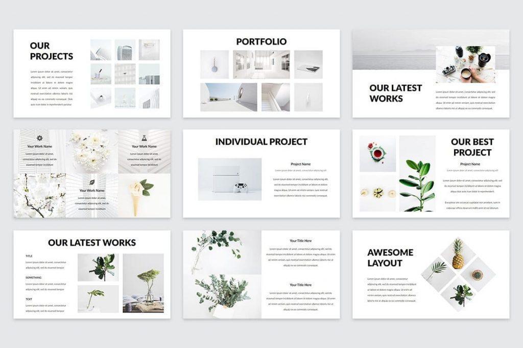 60+ Unique Casper Slides - Powerpoint Template.