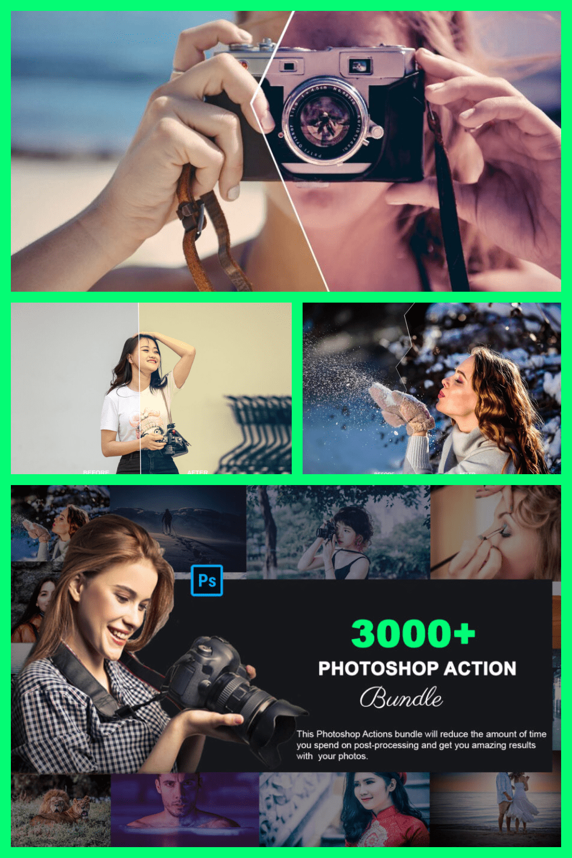 3000+ Extraordinary Lightroom Presets Bundle - MasterBundles - Pinterest Collage Image.