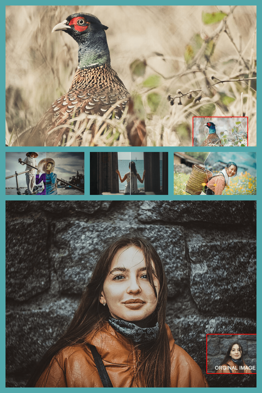 20 Dramatic Photoshop Actions - MasterBundles - Pinterest Collage Image.
