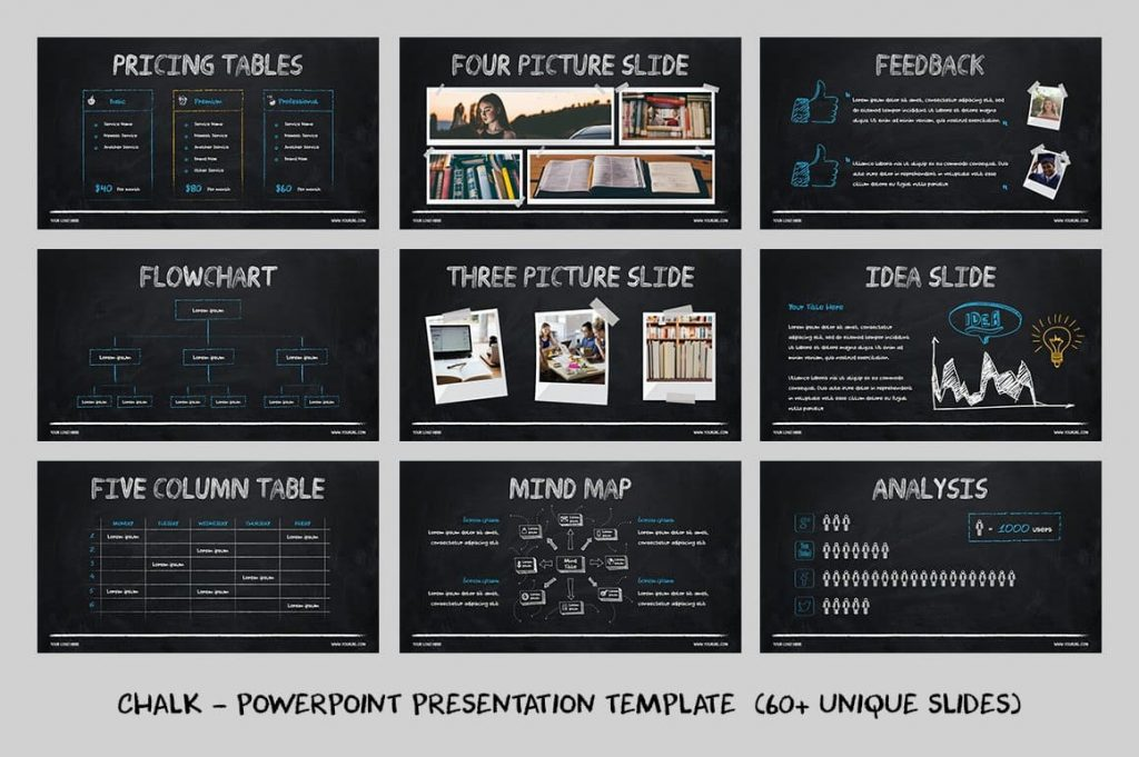 Creative Presentation Chalk - Powerpoint Template.