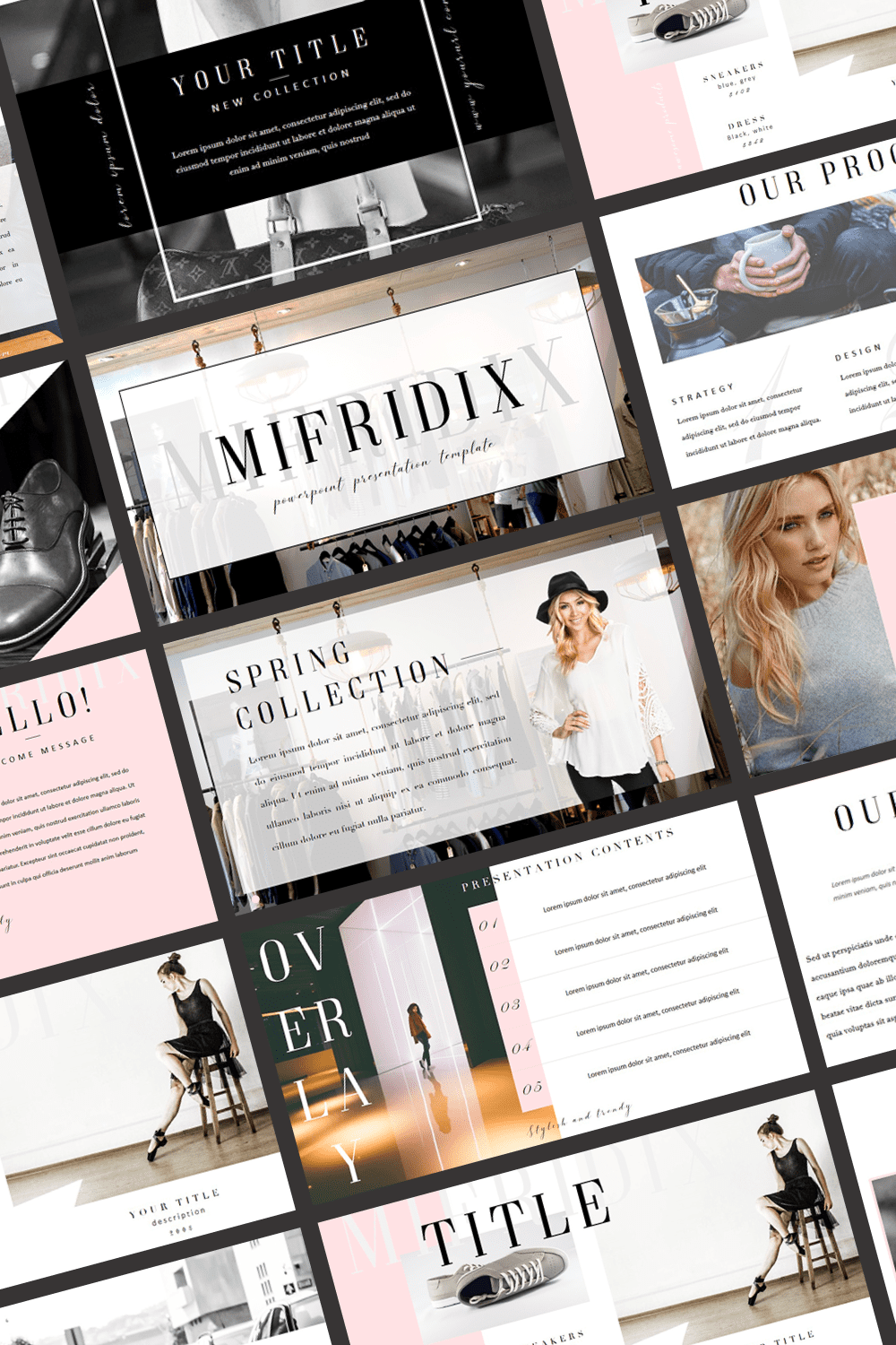 Mifridix - Powerpoint Template by MasterBundles Pinterest Collage Image.