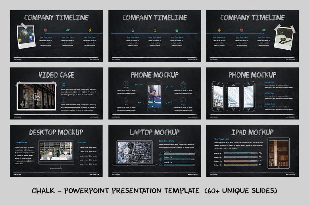 Content Slides Chalk - Powerpoint Template.