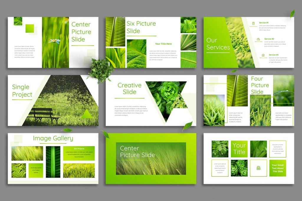 Leaf Animated Slides - Powerpoint Template.