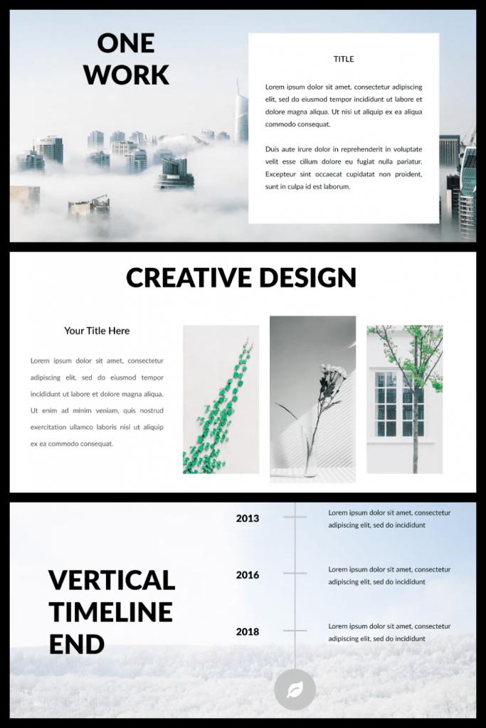 Casper - Powerpoint Template by MasterBundles Pinterest Collage Image.