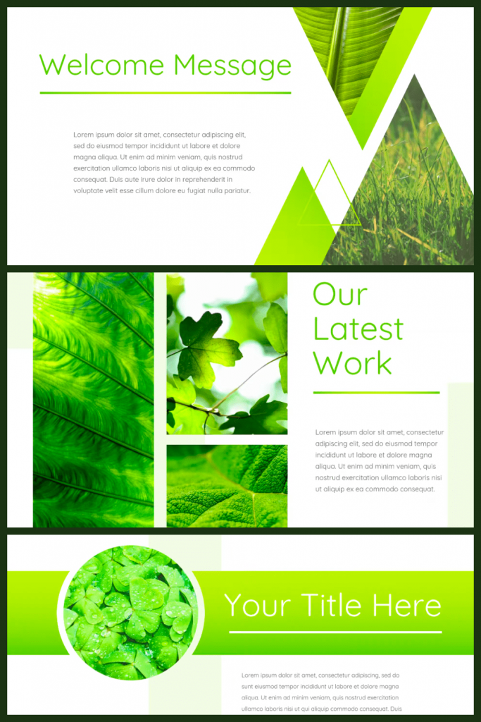 Leaf - Powerpoint Template by MasterBundles Pinterest Collage Image.