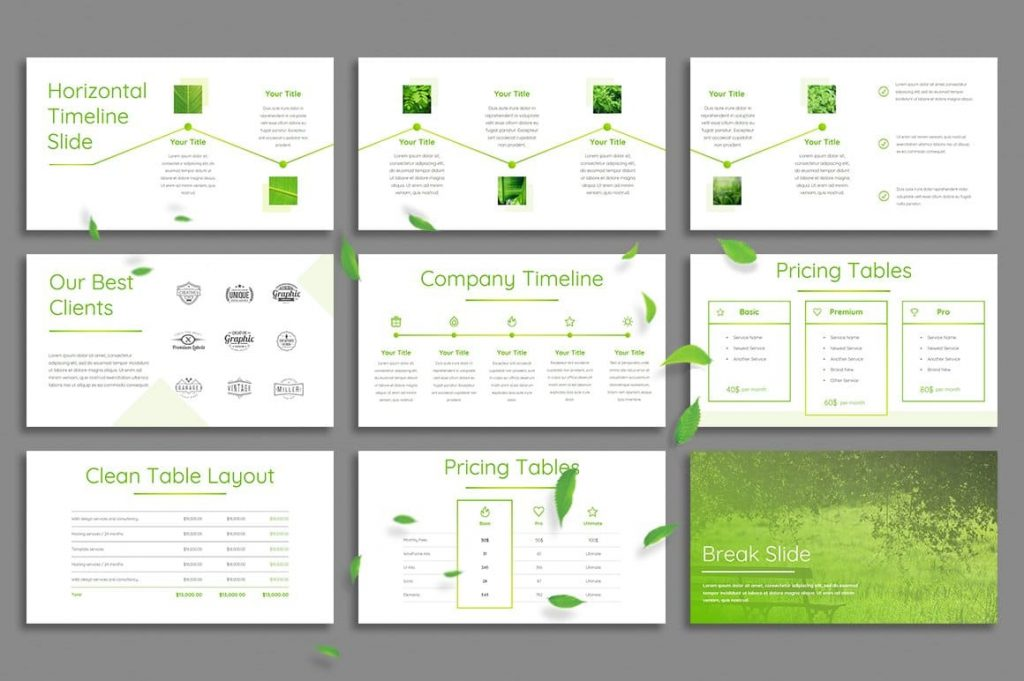 All photos are included in Leaf - Powerpoint Template.