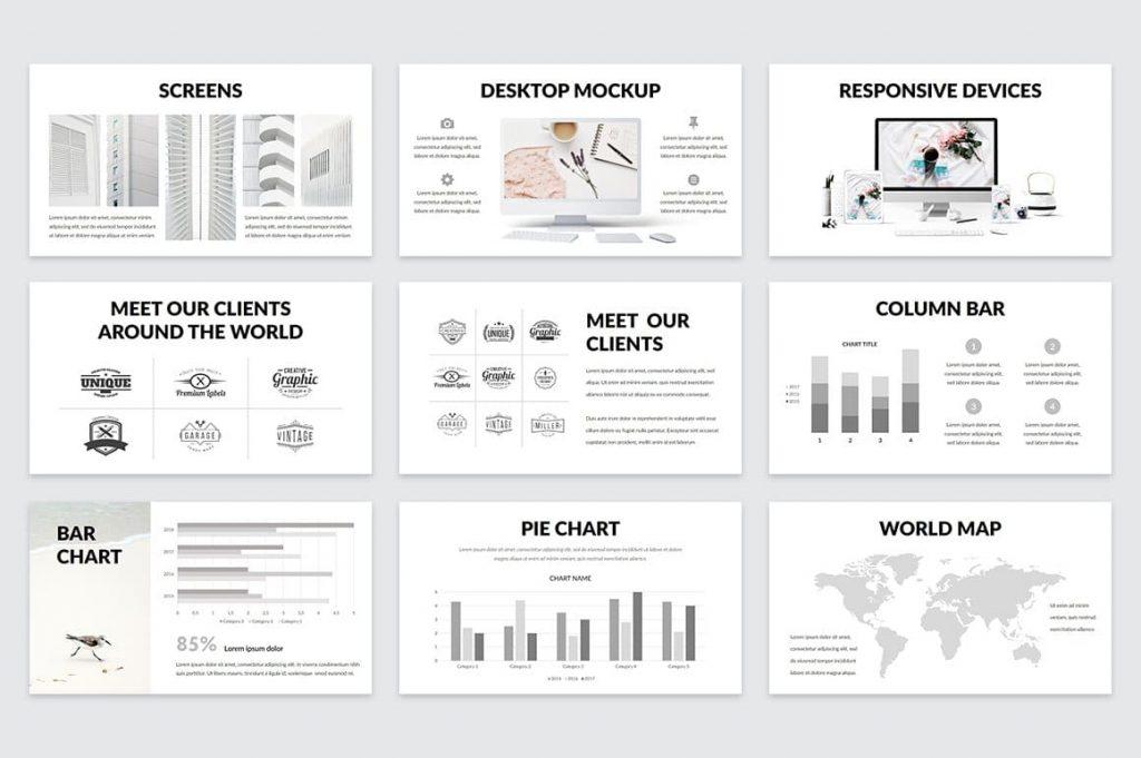 Easy Editable Casper Diagrams - Powerpoint Template.