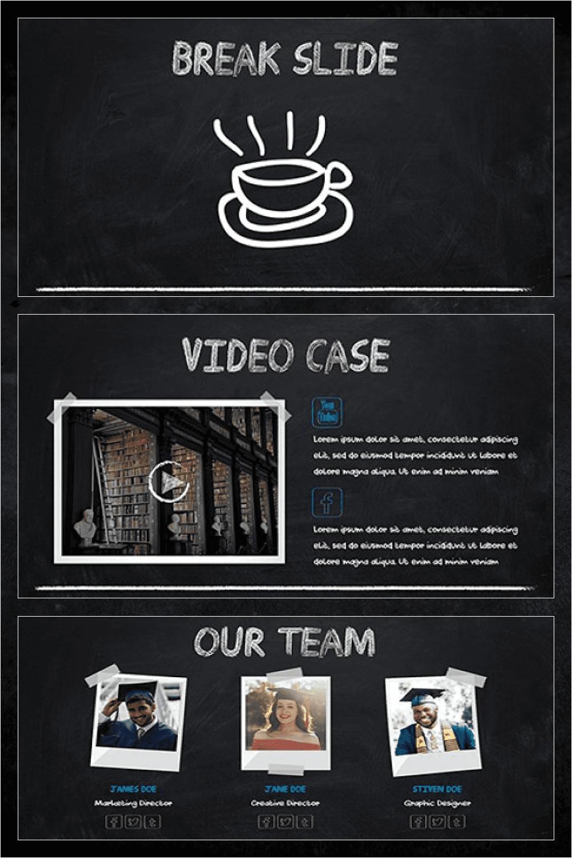 Chalk - Powerpoint Template by MasterBundles Pinterest Collage Image.