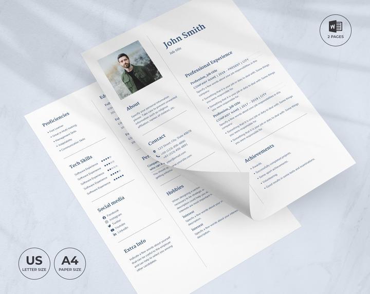 Apartment Rental CV Resume Template.