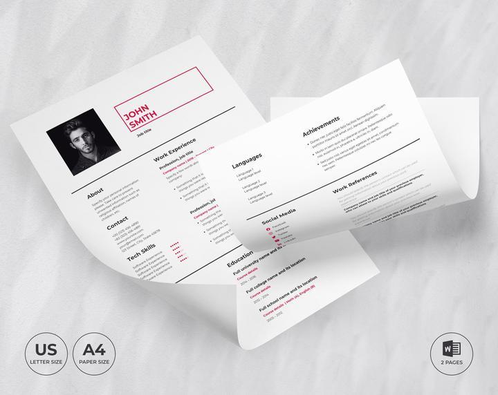 Art Director CV Resume Template Etsy