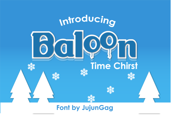 Baloon is a beautiful, bubbly and bold font for your Christmas crafts.