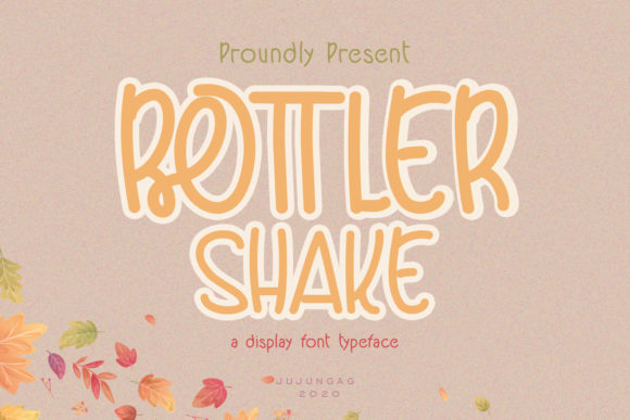 Bottler Shake is a cute and quirky display font. It will add an incredibly joyful touch to your designs.