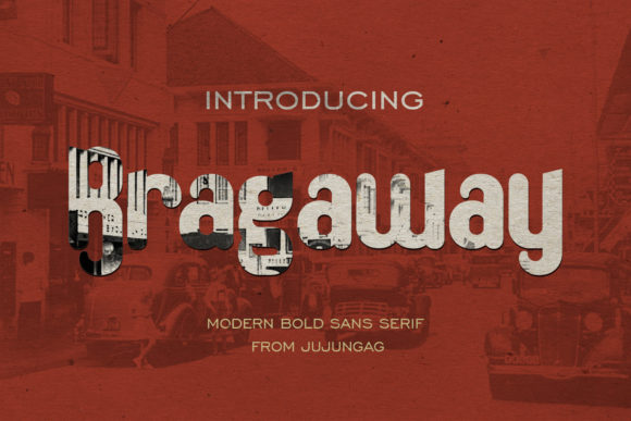 Bragaway is a modern display font. It features a simple alternate character with a vintage design.