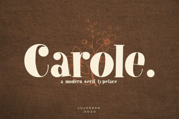 Carole is a bold and elegant serif font. Fall in love with its incredibly versatile style and use it to create spectacular designs!