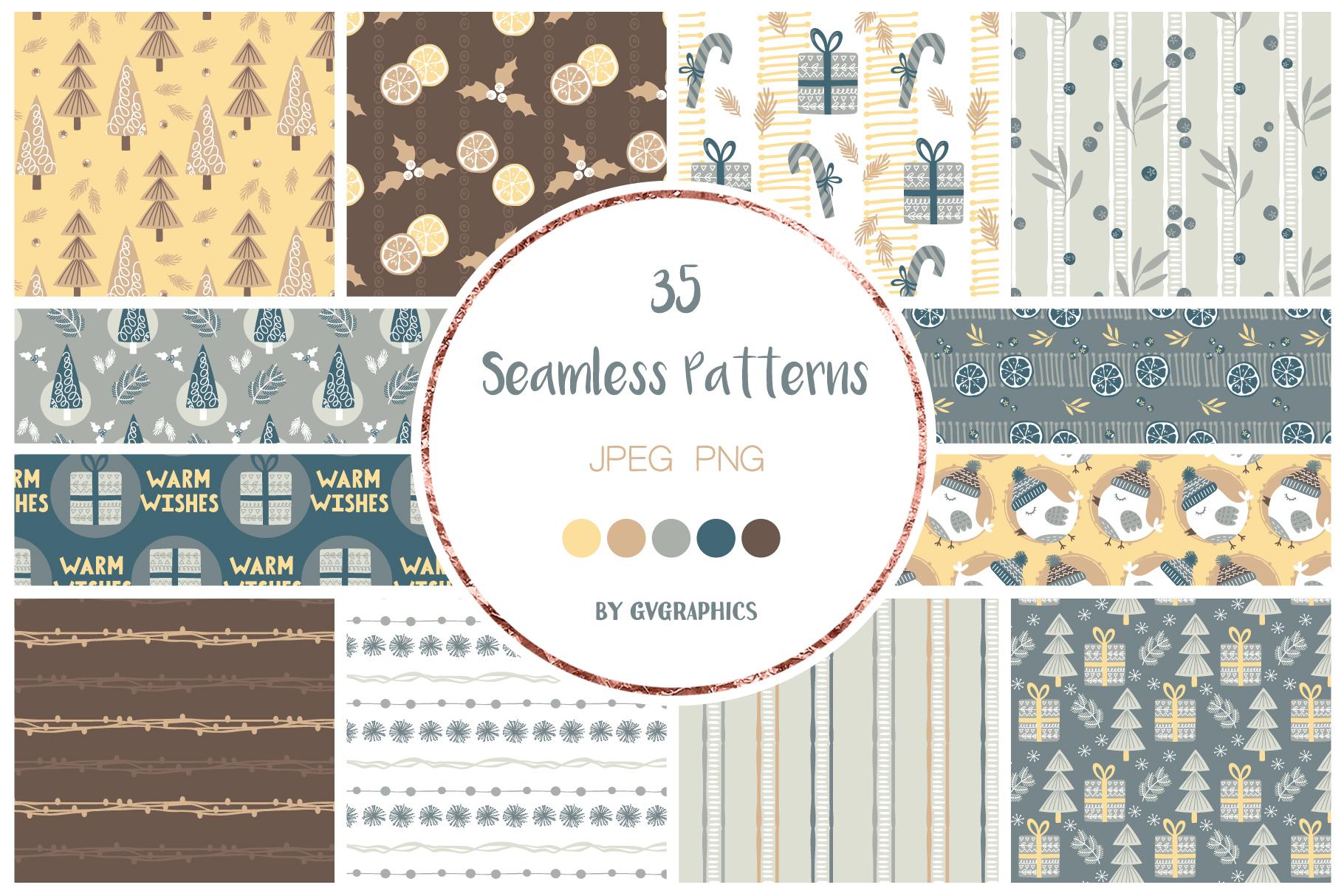 Christmas Seamless Patterns.