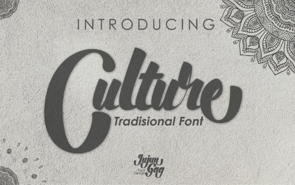 Culture is a bold script font, carefully handcrafted to become a true favorite.