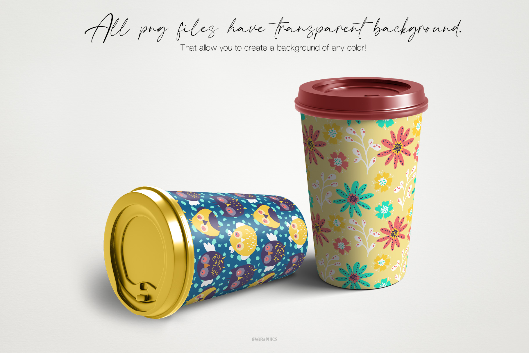 Cups Made On The Basis Patterns.